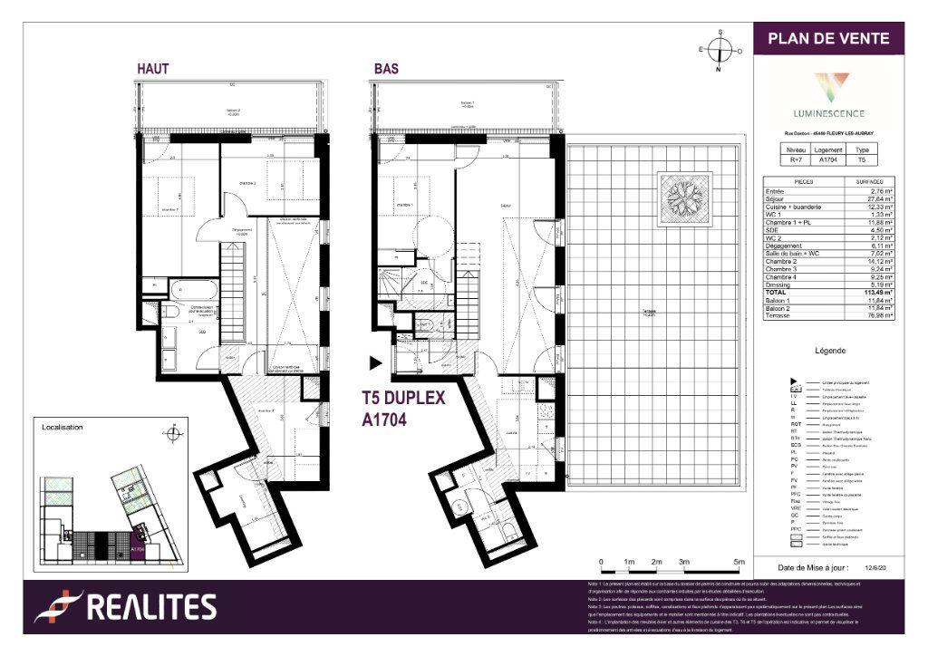Appartement à vendre 5 113.49m2 à Fleury-les-Aubrais plan-1