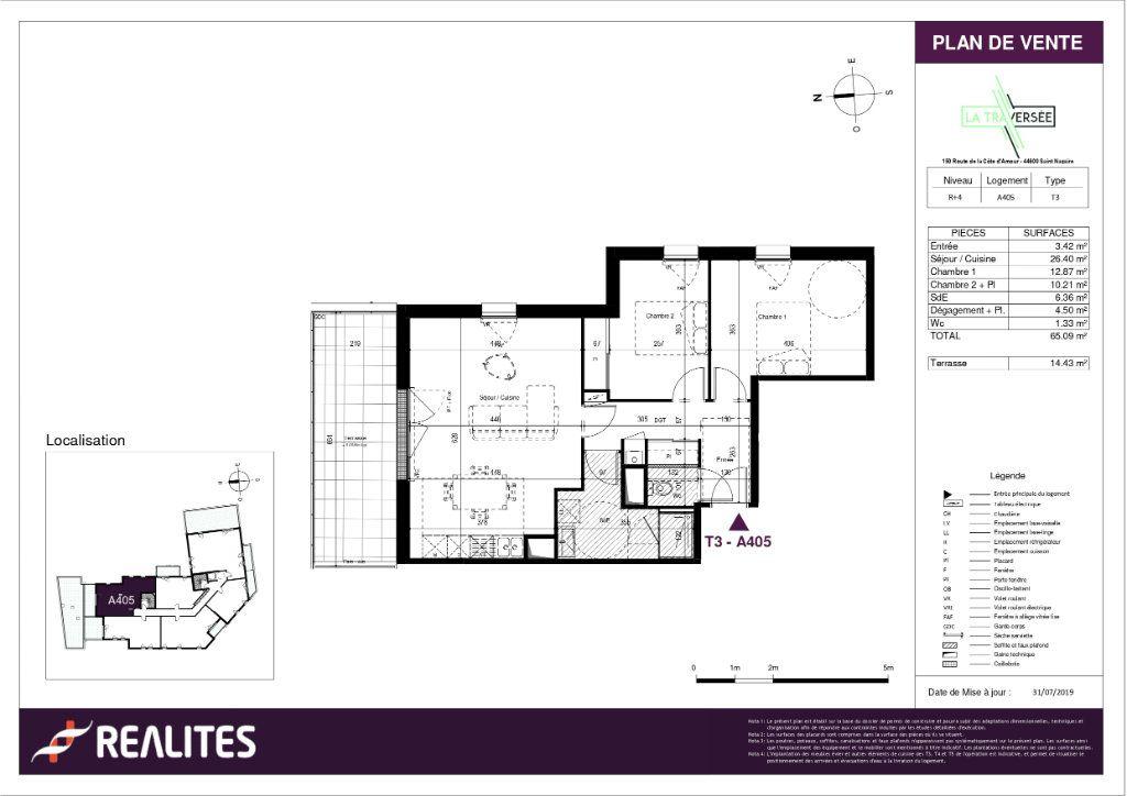 Appartement à vendre 3 65.09m2 à Saint-Nazaire plan-1