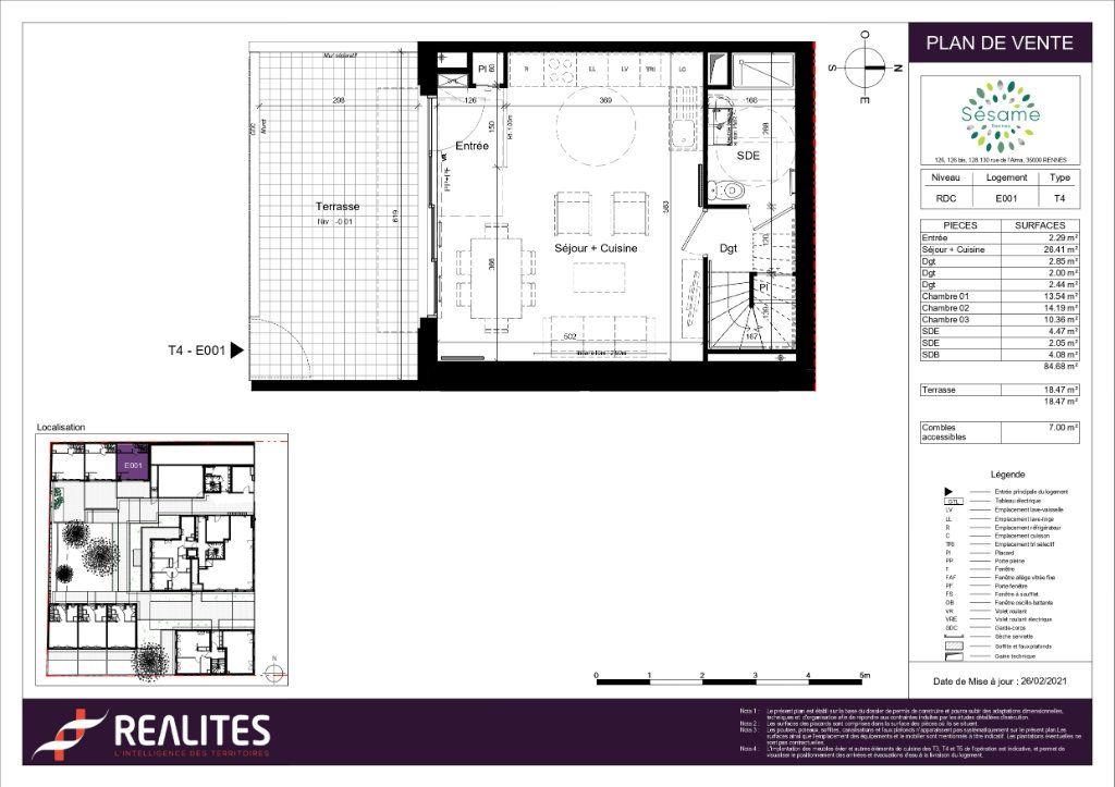 Maison à vendre 4 84.68m2 à Rennes plan-1
