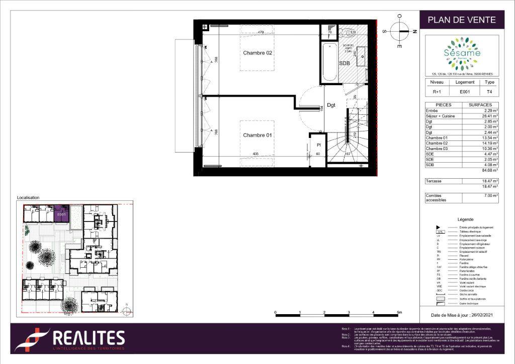 Maison à vendre 4 84.68m2 à Rennes plan-2