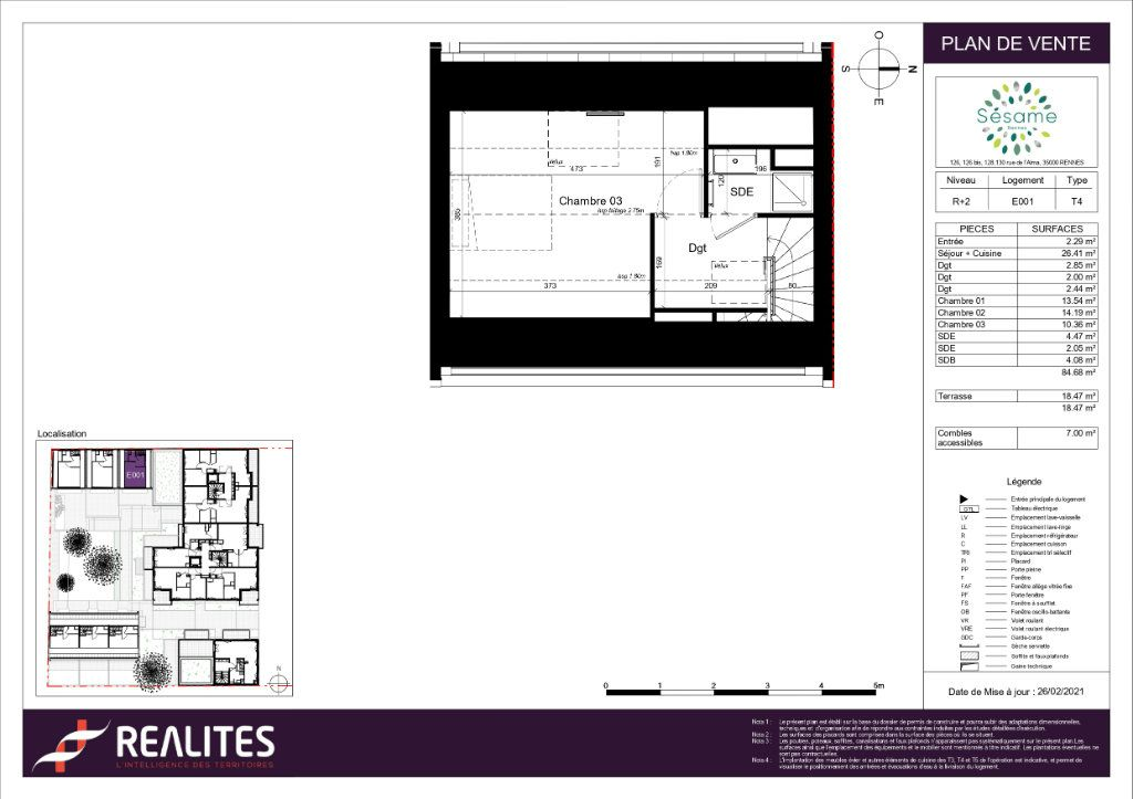 Maison à vendre 4 84.68m2 à Rennes plan-3