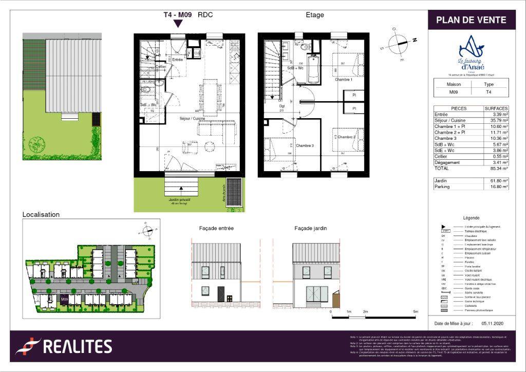 Maison à vendre 4 85.34m2 à Trélazé plan-1