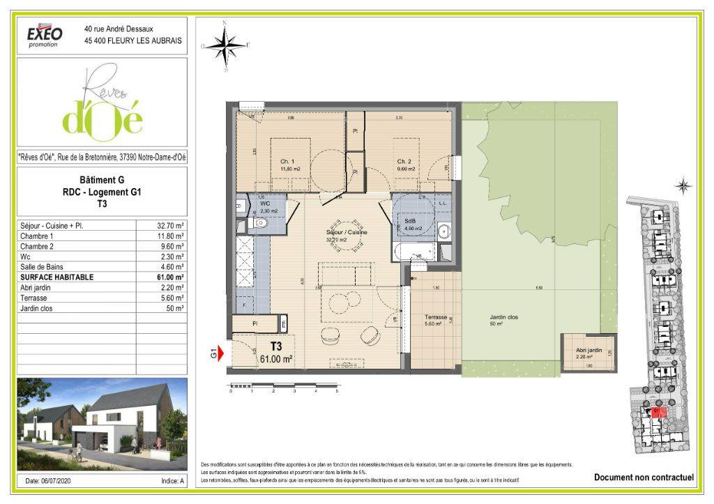 Appartement à vendre 61m2 à Notre-Dame-d'Oé