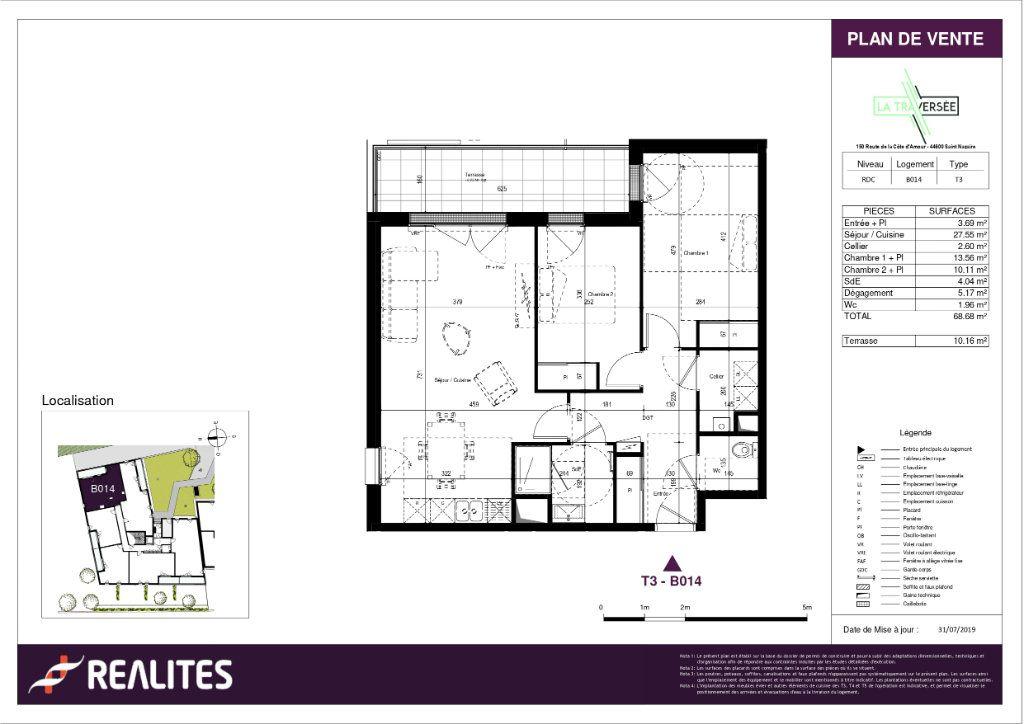 Appartement à vendre 3 68.68m2 à Saint-Nazaire plan-1