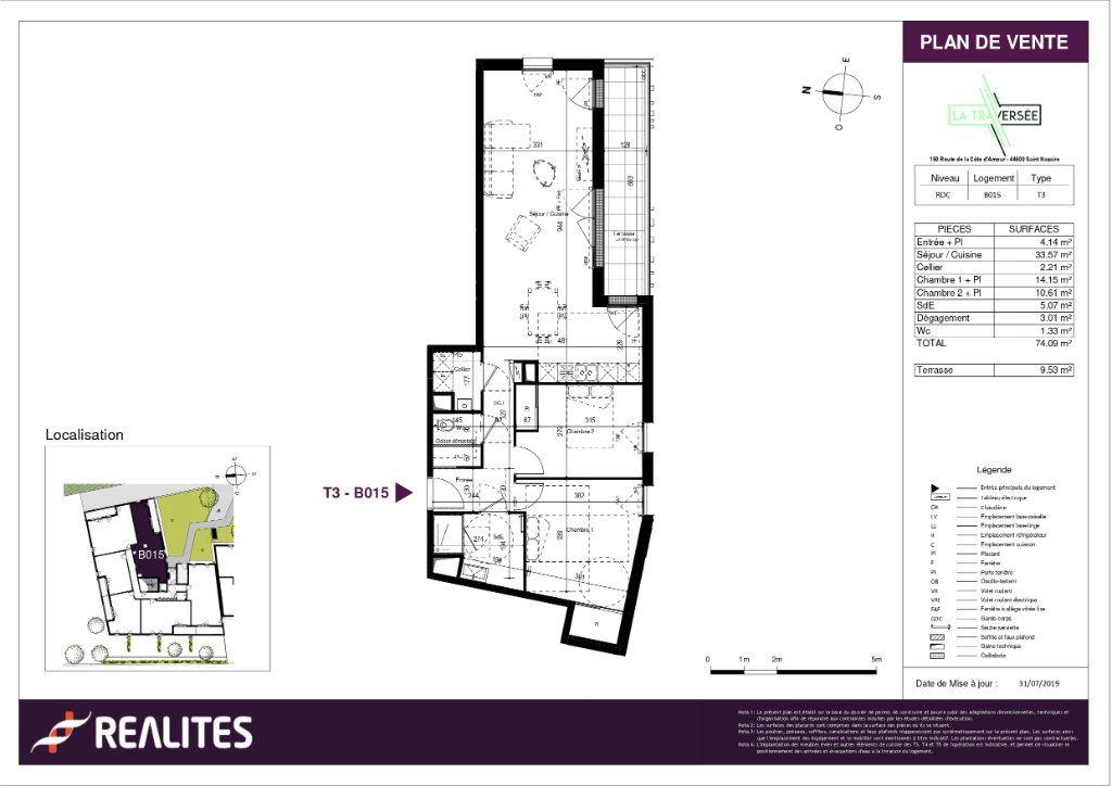 Appartement à vendre 3 74.09m2 à Saint-Nazaire plan-1