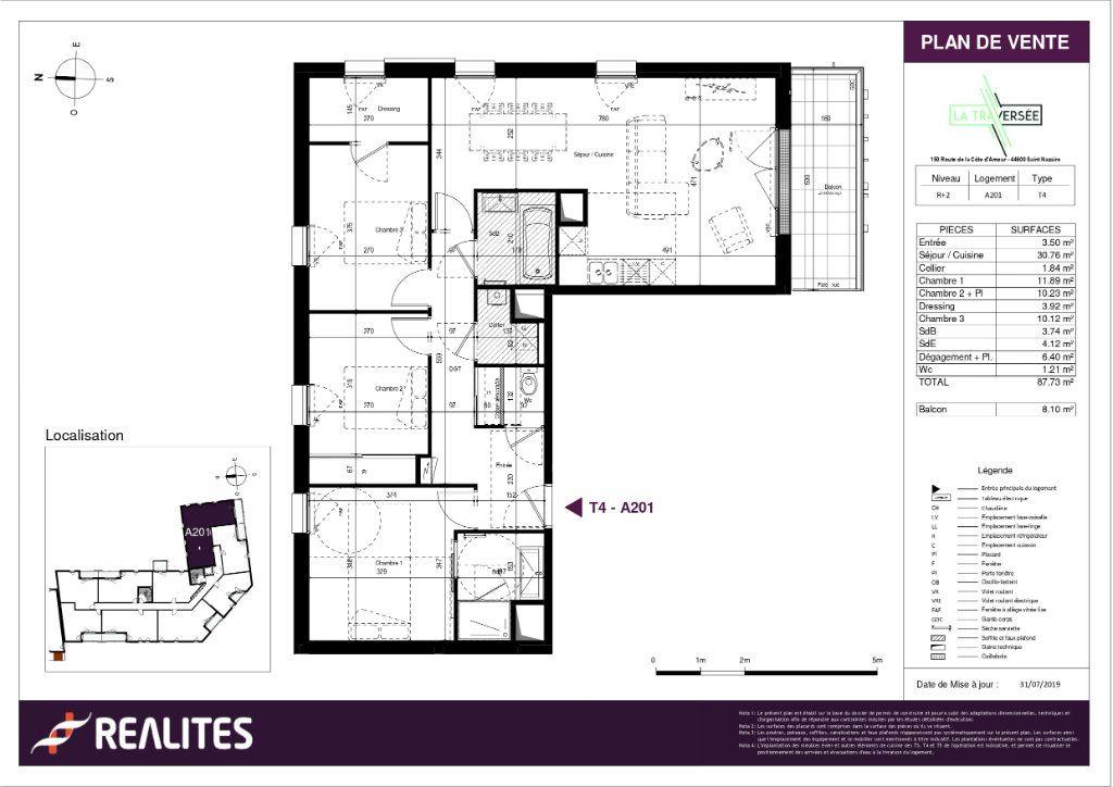 Appartement à vendre 4 87.73m2 à Saint-Nazaire plan-1