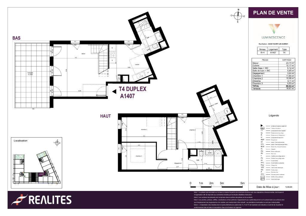 Appartement à vendre 88.04m2 à Fleury-les-Aubrais