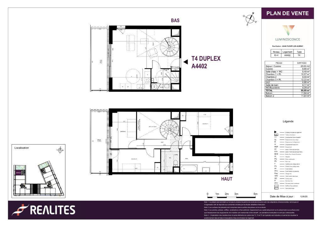 Appartement à vendre 4 95.08m2 à Fleury-les-Aubrais plan-1