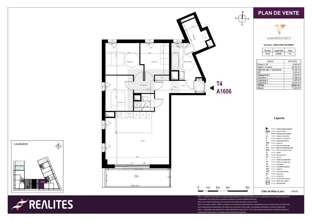Appartement à vendre 4 93.81m2 à Fleury-les-Aubrais plan-1