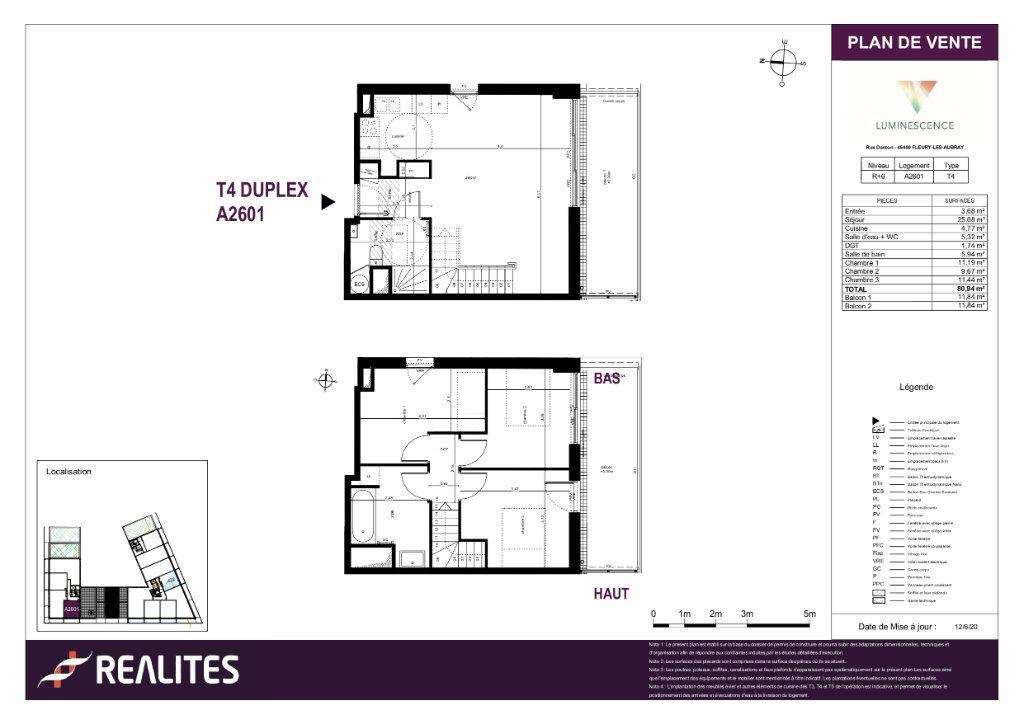 Appartement à vendre 80.94m2 à Fleury-les-Aubrais