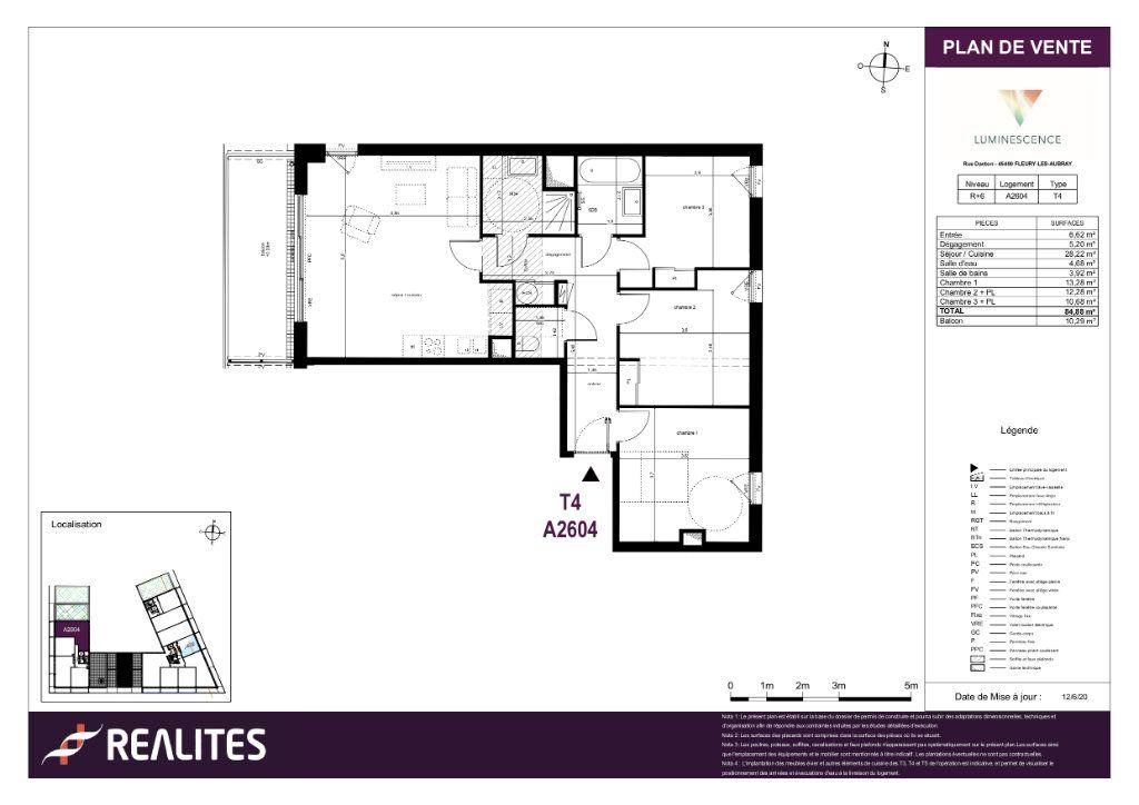 Appartement à vendre 4 84.88m2 à Fleury-les-Aubrais plan-1