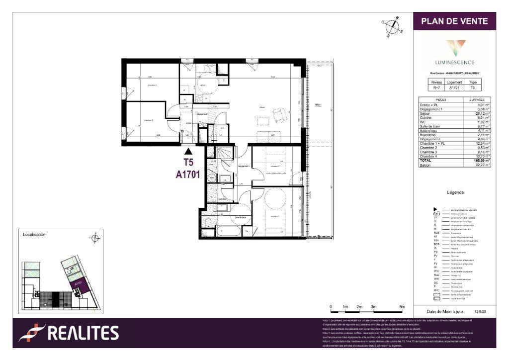 Appartement à vendre 5 105.09m2 à Fleury-les-Aubrais plan-1