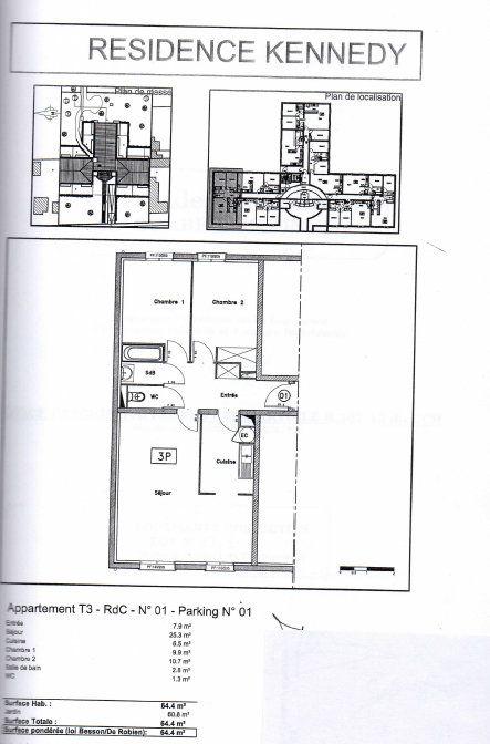 Appartement à vendre 64.4m2 à Corbeil-Essonnes