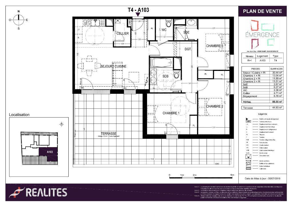 Appartement à vendre 88.55m2 à Saint-Jean-de-Braye
