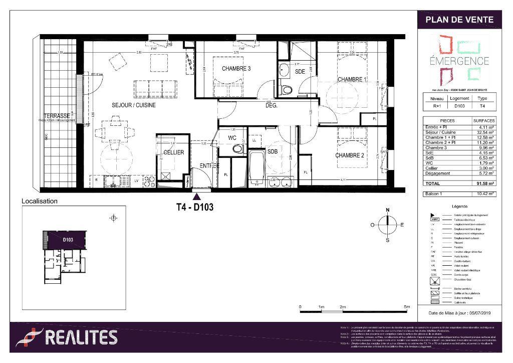 Appartement à vendre 4 91.58m2 à Saint-Jean-de-Braye plan-1