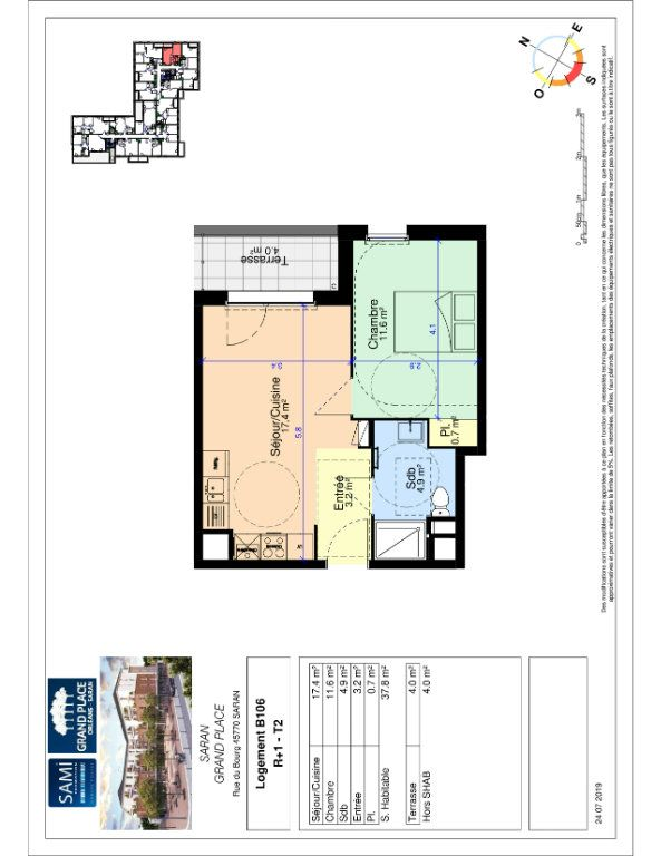 Appartement à vendre 37.7m2 à Saran