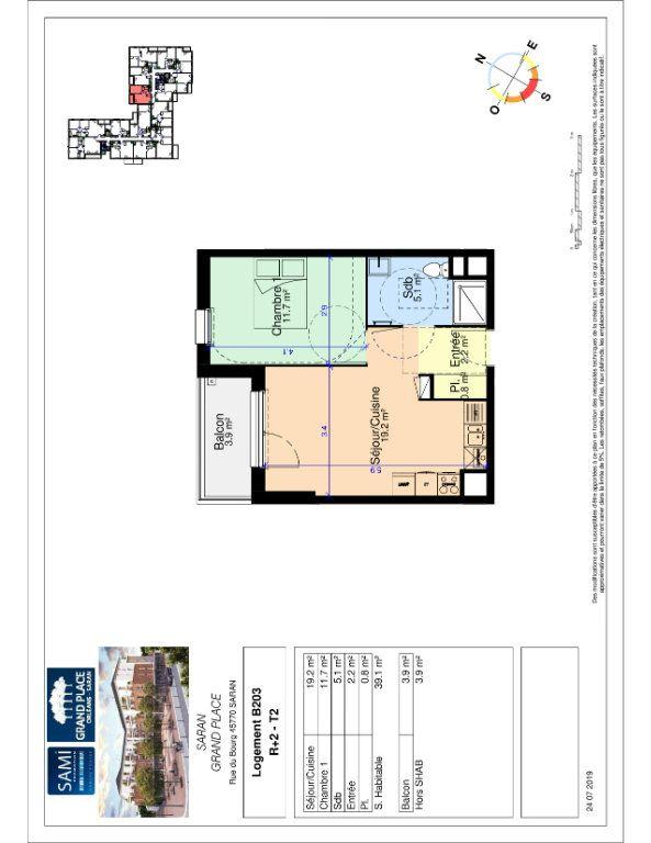 Appartement à vendre 39.1m2 à Saran