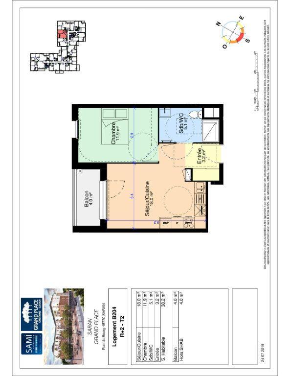 Appartement à vendre 38.2m2 à Saran