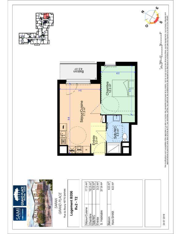 Appartement à vendre 37.9m2 à Saran