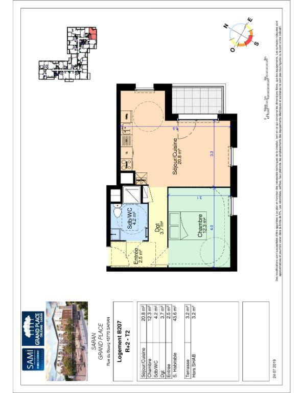 Appartement à vendre 43.6m2 à Saran