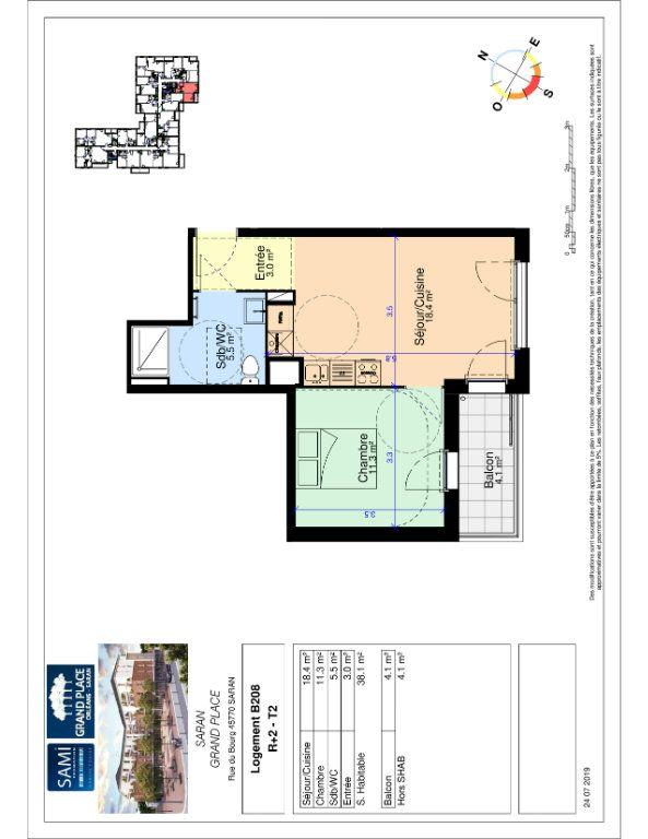 Appartement à vendre 38.1m2 à Saran