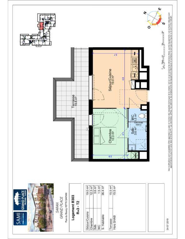 Appartement à vendre 36.4m2 à Saran