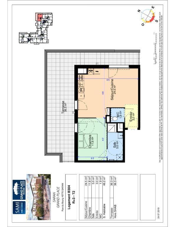 Appartement à vendre 46.2m2 à Saran