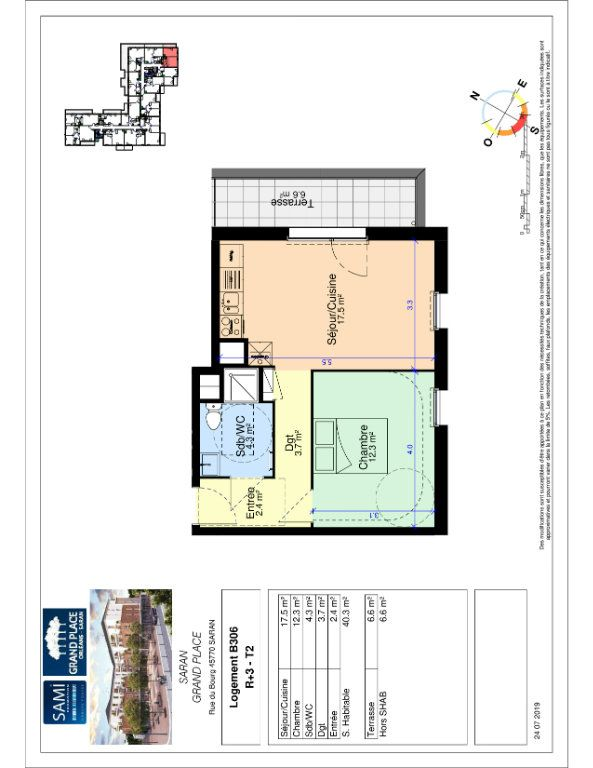 Appartement à vendre 2 40.3m2 à Saran plan-1
