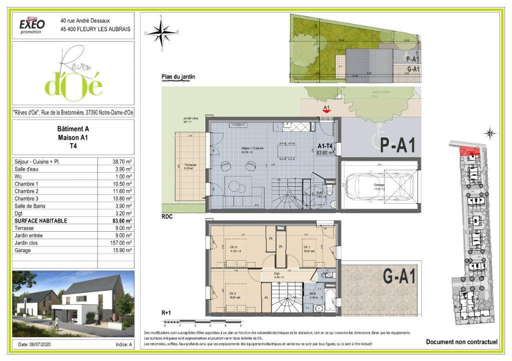 Maison à vendre 4 83.6m2 à Notre-Dame-d'Oé plan-1