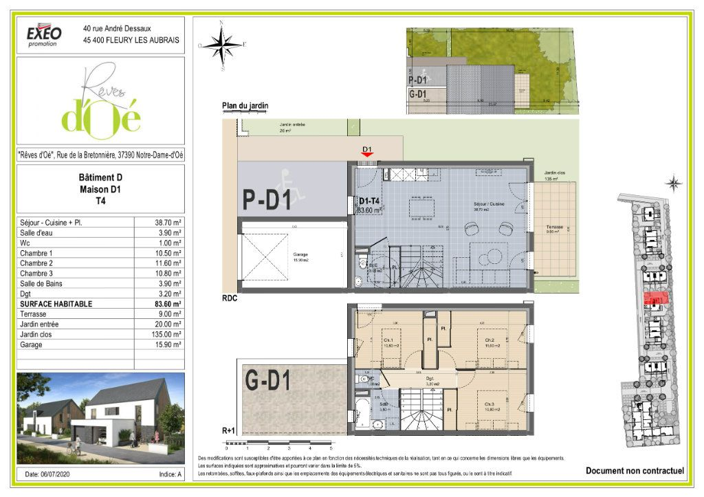 Maison à vendre 83.6m2 à Notre-Dame-d'Oé