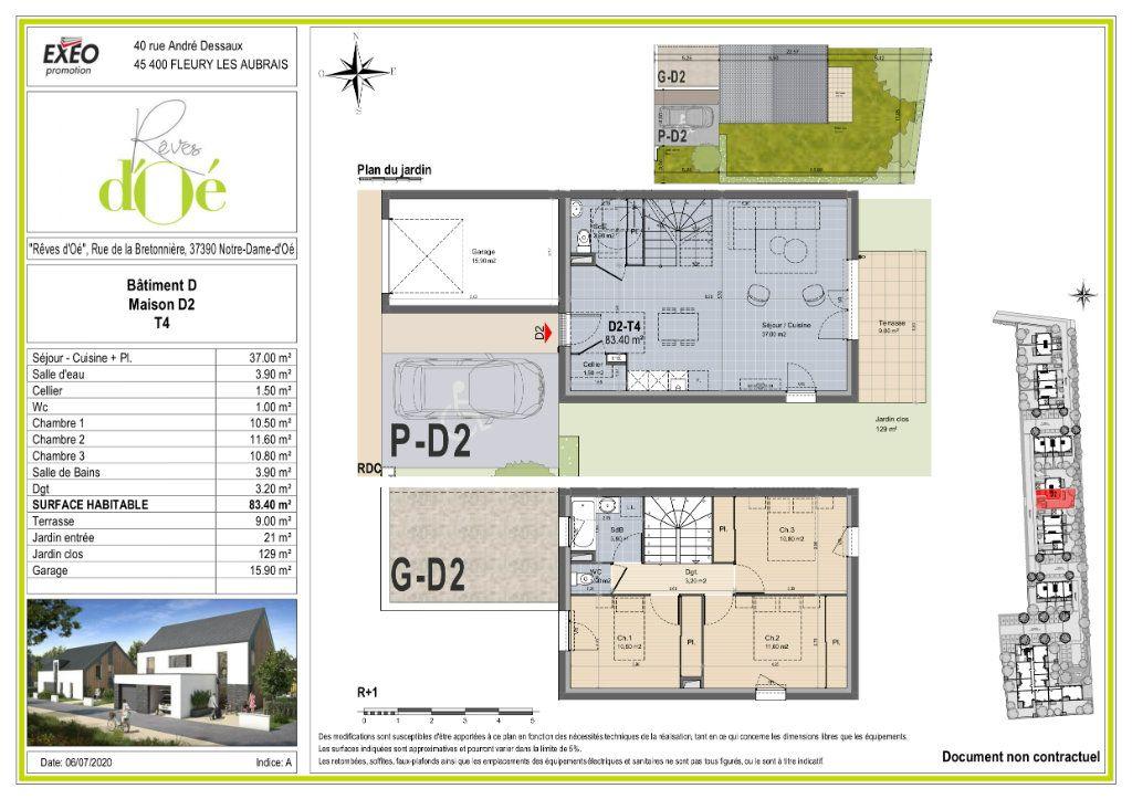 Maison à vendre 83.4m2 à Notre-Dame-d'Oé