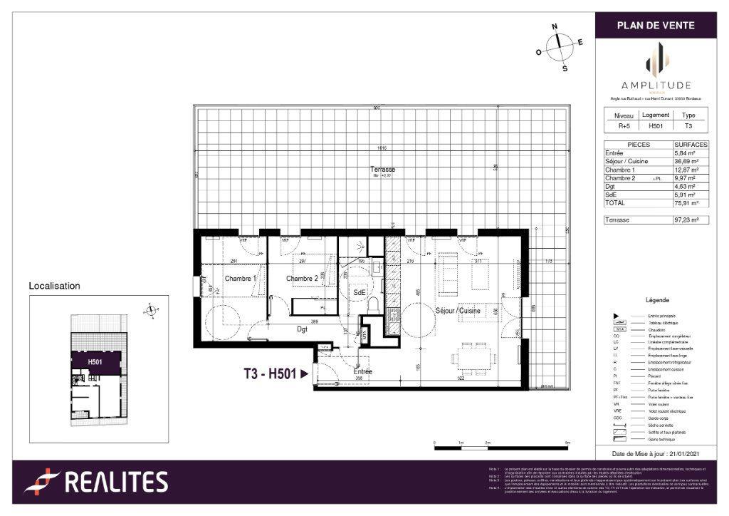 Appartement à vendre 75.91m2 à Bordeaux