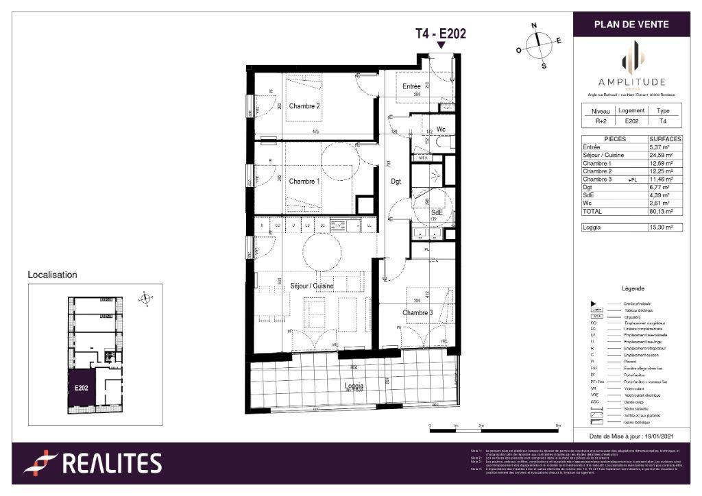 Appartement à vendre 80.13m2 à Bordeaux