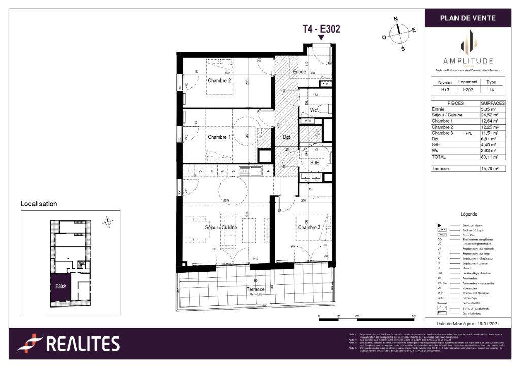 Appartement à vendre 80.11m2 à Bordeaux