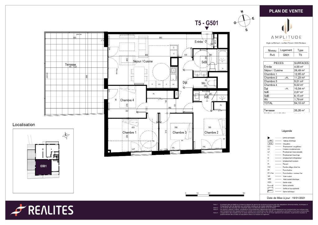 Appartement à vendre 94.1m2 à Bordeaux