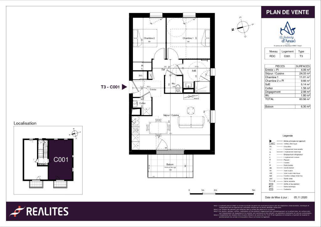 Appartement à vendre 60.56m2 à Trélazé