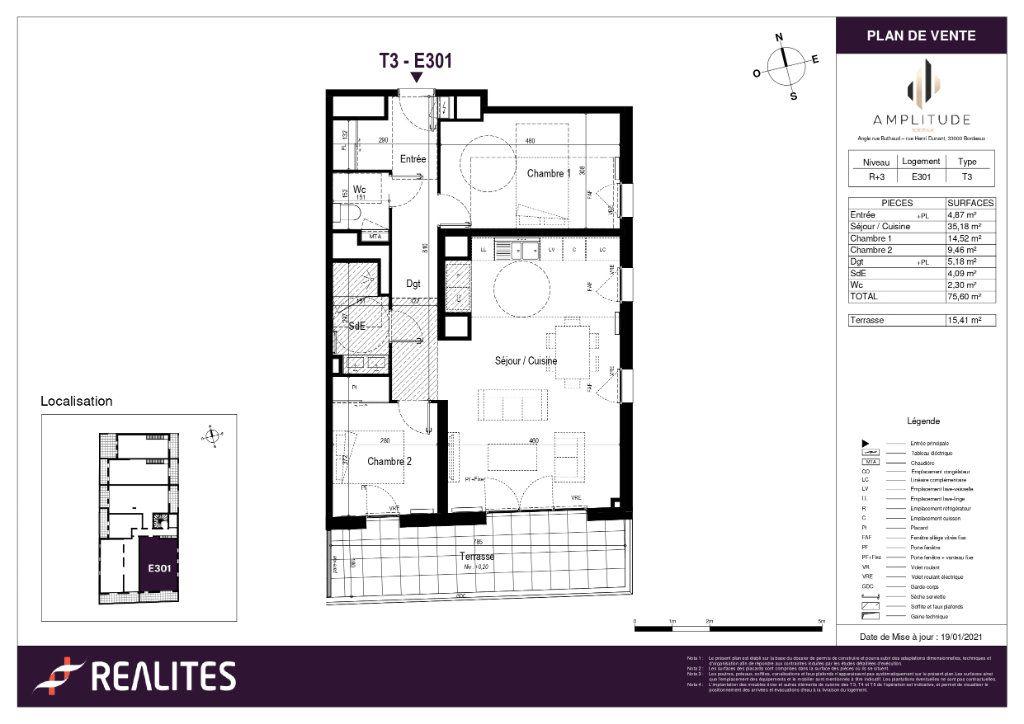 Appartement à vendre 75.6m2 à Bordeaux
