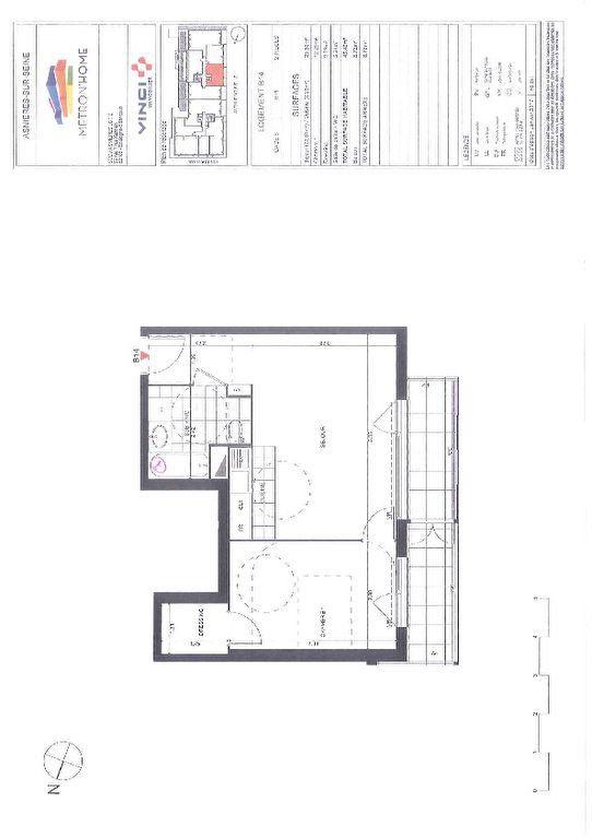 Appartement à louer 2 49.5m2 à Asnières-sur-Seine vignette-6