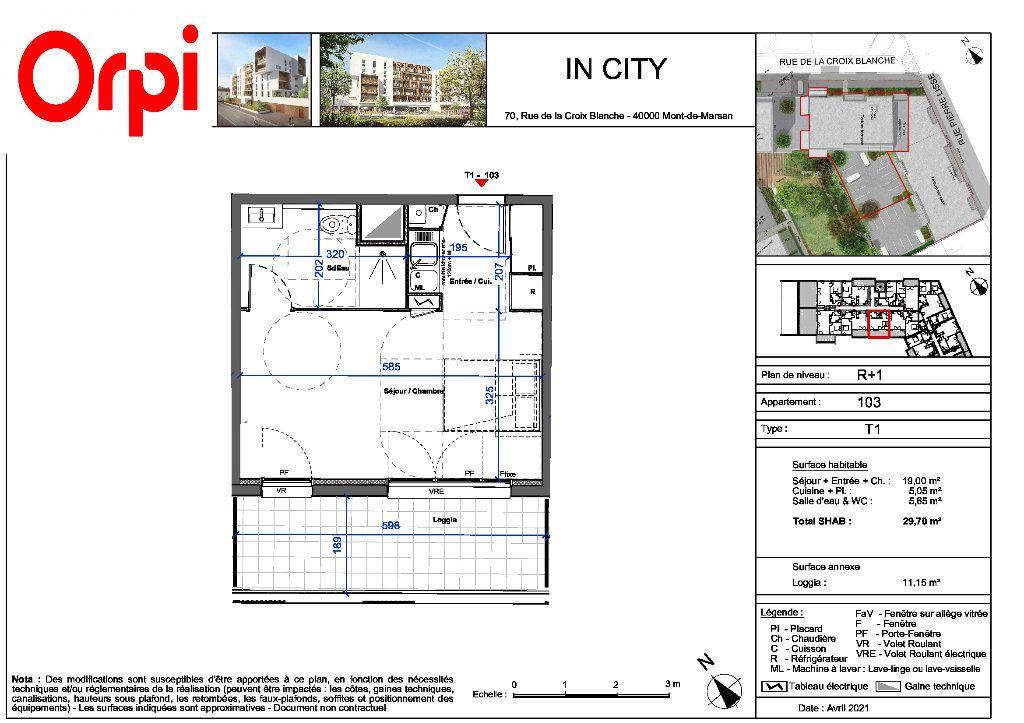Appartement à vendre 1 29.7m2 à Mont-de-Marsan vignette-3