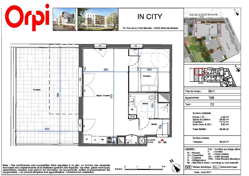 Appartement à vendre 2 48.2m2 à Mont-de-Marsan vignette-2