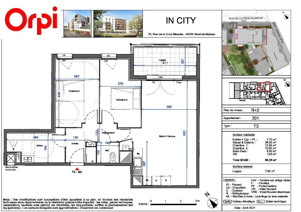 Appartement à vendre 3 66.35m2 à Mont-de-Marsan vignette-1