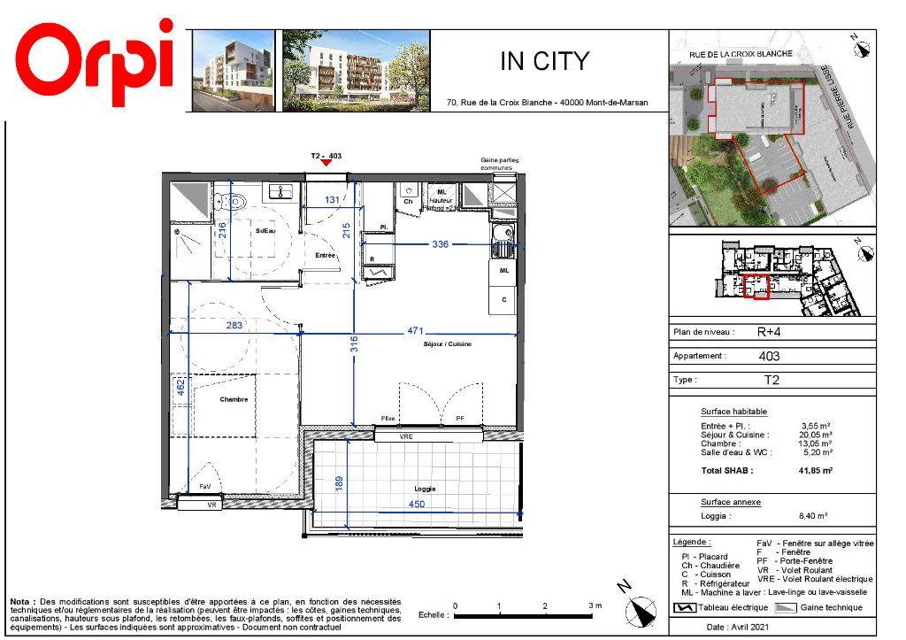 Appartement à vendre 2 41.85m2 à Mont-de-Marsan vignette-2