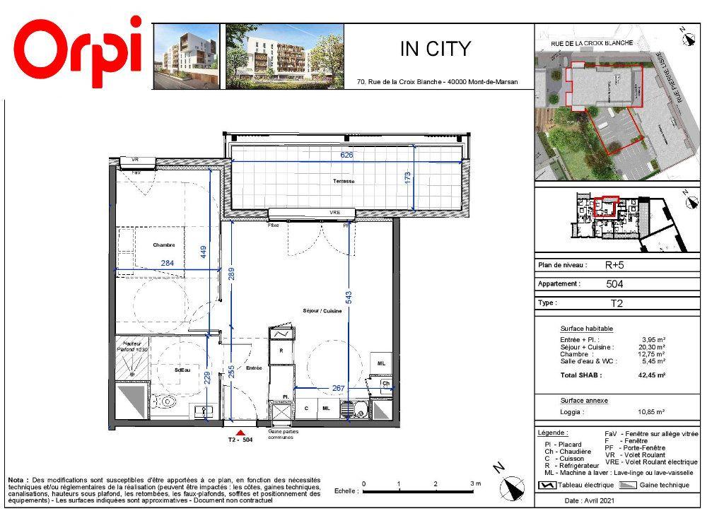 Appartement à vendre 2 42.45m2 à Mont-de-Marsan vignette-3