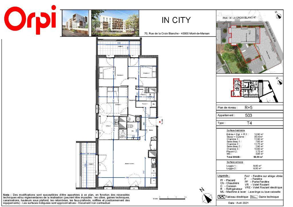 Appartement à vendre 4 99m2 à Mont-de-Marsan vignette-1