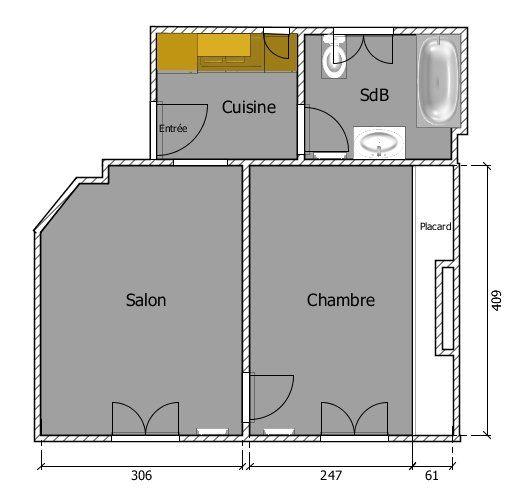 Appartement à louer 2 32.07m2 à Paris 11 vignette-8