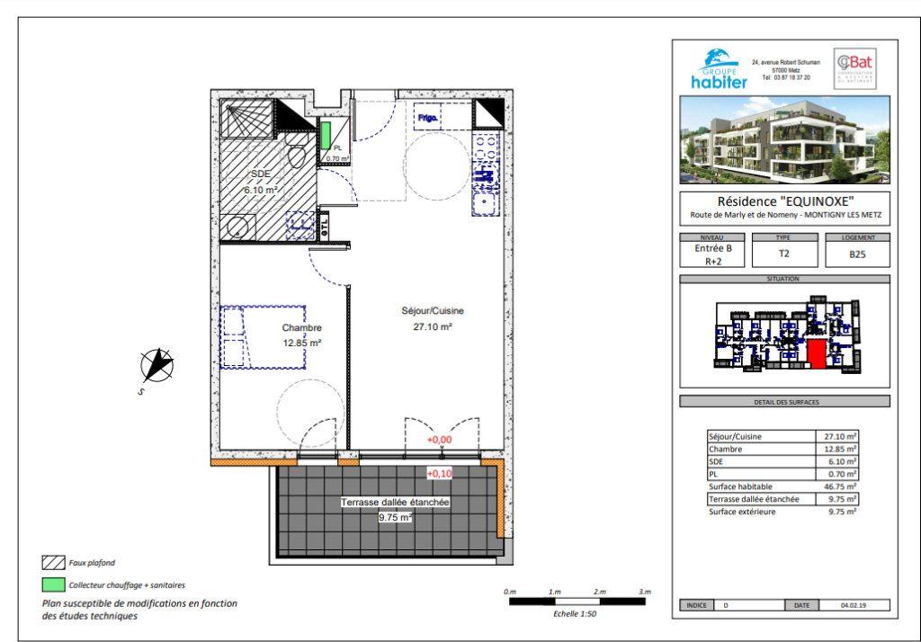 Appartement à louer 2 46.75m2 à Montigny-lès-Metz vignette-2