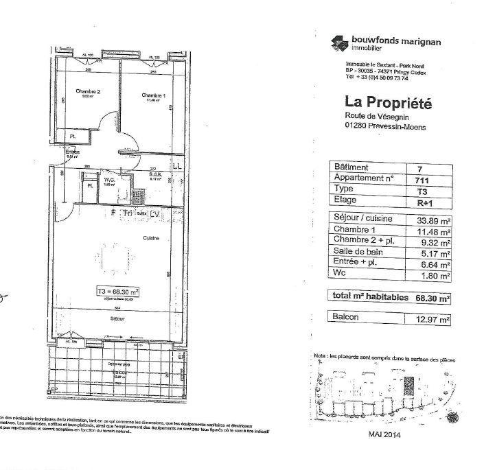 Appartement à louer 3 68.3m2 à Prévessin-Moëns vignette-10