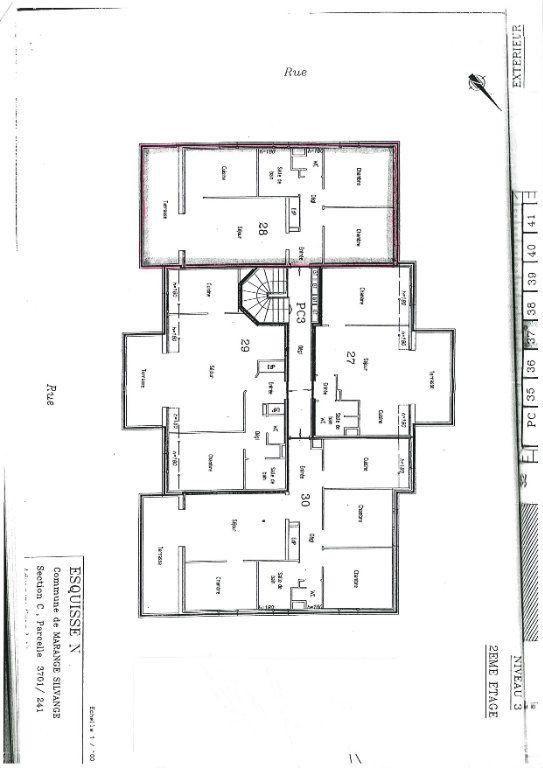 Appartement à louer 3 65.74m2 à Marange-Silvange plan-1