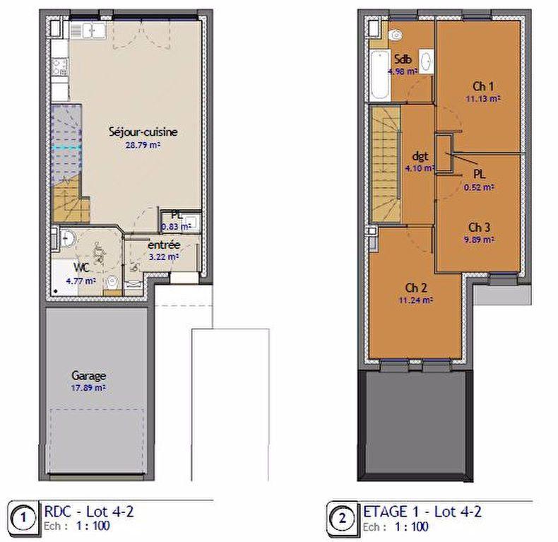 Maison à vendre 4 79m2 à Metz vignette-1