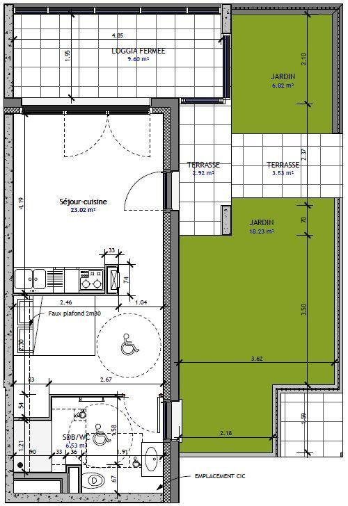 Appartement à vendre 1 29.59m2 à Metz vignette-1